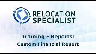 Training Video - Custom Financial Reports
