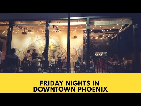 Friday Nights In Downtown Phoenix | First Friday | Living in Arizona