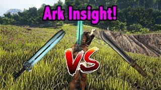 Ark tek sword op videos ark tek sword op clips clipzui ark insight tek sword vs metal sword malvernweather Gallery
