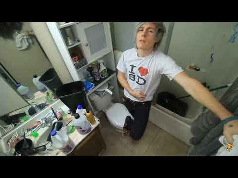 Robby Sneezes 3 Times While Cleaning His Bathroom.