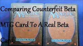 MTG - Counterfeit Beta Card Comparison