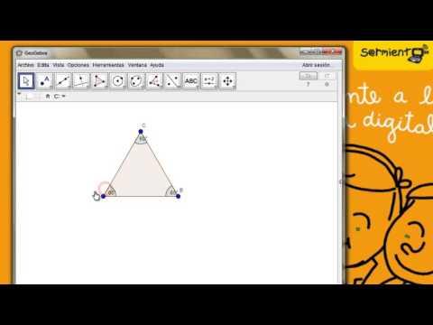 Geogebra Como Hago Para Construir Un Triangulo Equilatero Youtube