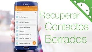 Como RECUPERAR CONTACTOS BORRADOS en Android