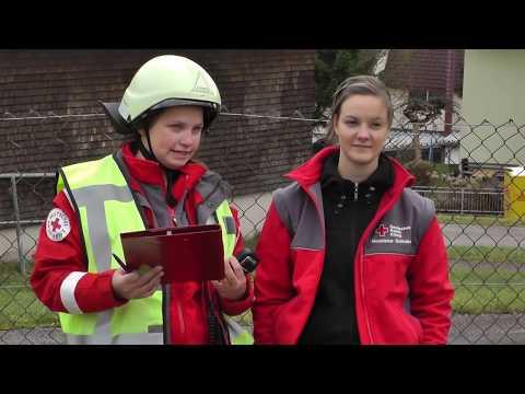 Jugendrotkreuz & Jugendfeuerwehr - Ausbildungsübung | DRK Feuerwehr DLRG Bergwacht
