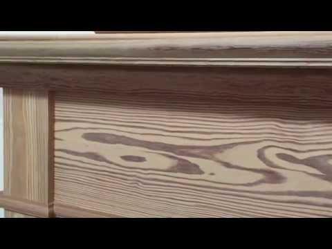 Antique Heart Pine Arts & Crafts Mantel