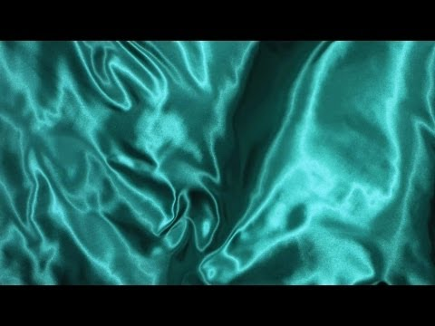 Free Slow Motion Footage: Wavy Green Silk Fabric