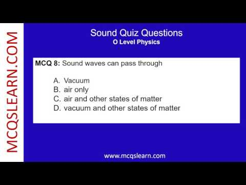 Sound Quiz Questions - MCQsLearn Free Videos