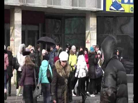 Флешмоб Непромокаемые Красноярск, 13.03.11