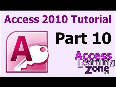 Microsoft Access 2010 Tutorial Part 10 Of 12 - Customer Form