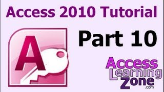 Microsoft Access 2010 Tutorial Part 10 of 12 - Customer Form