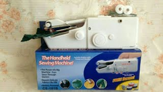 How to use The Handheld Sewing Machine | Handy Stitch Sewing Machine
