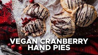 Vegan Cranberry Hand Pies | Vegan Holiday Collab