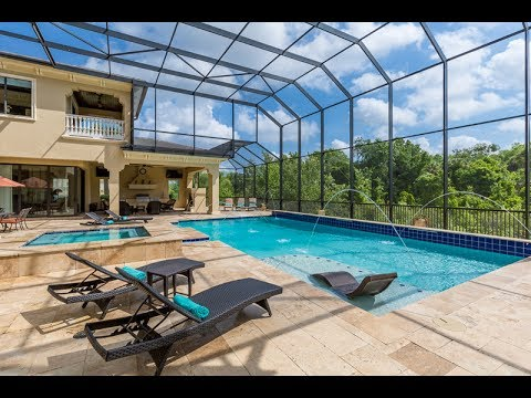 10,000 sq ft, 9 Bed Luxury Villa with Private Screened Pool, Theater, Gym, Sauna & 2 Game Rooms