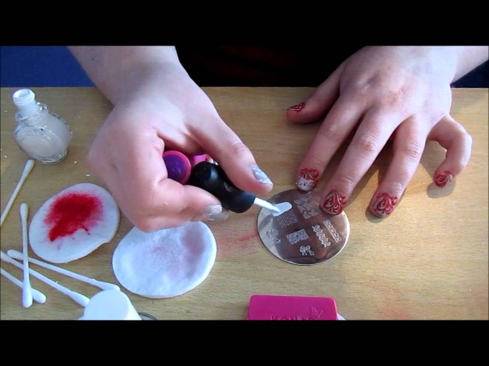 How to use Konad Nail Art Stamping - YouTube