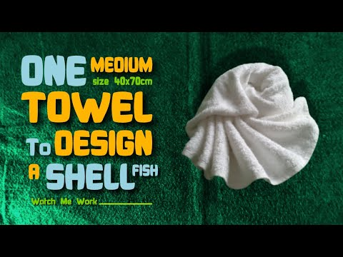 Towel Design Tutorial - One Medium Towel To Design A Shellfish
