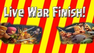 Clash of Clans - Mad RaM Live War Finish! - Queen Walk / GoWiWi + Fail!!