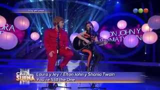 Laura y Jey son Elton John y Shania Twain - Tu Cara Me Suena 2014