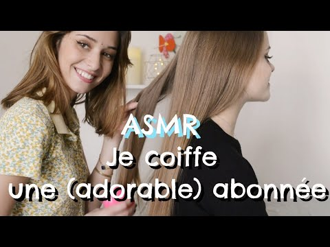 ASMR FRANÇAIS - Je coiffe une abonnée ❤️ (brushing, spray, tapping, scratching) thumbnail