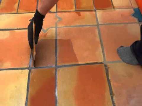 Limpieza y tratamiento de suelo de barro exterior youtube - Plaquetas suelo exterior ...