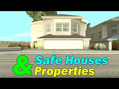 GTA San Andreas - All Safe Houses & Properties