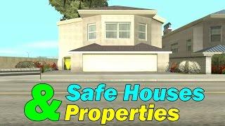GTA San Andreas - All Safe Houses & Properties