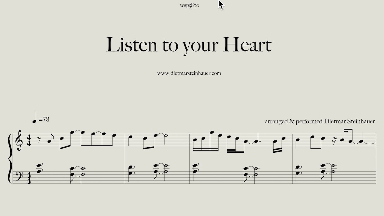 If you don 39 t know what to do listen to your heart youtube for Dietmar steinhauer
