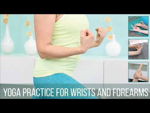 Yoga practice for wrists and forearms