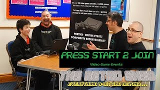 Press Start To Join Gaming Event | The Retro Shed