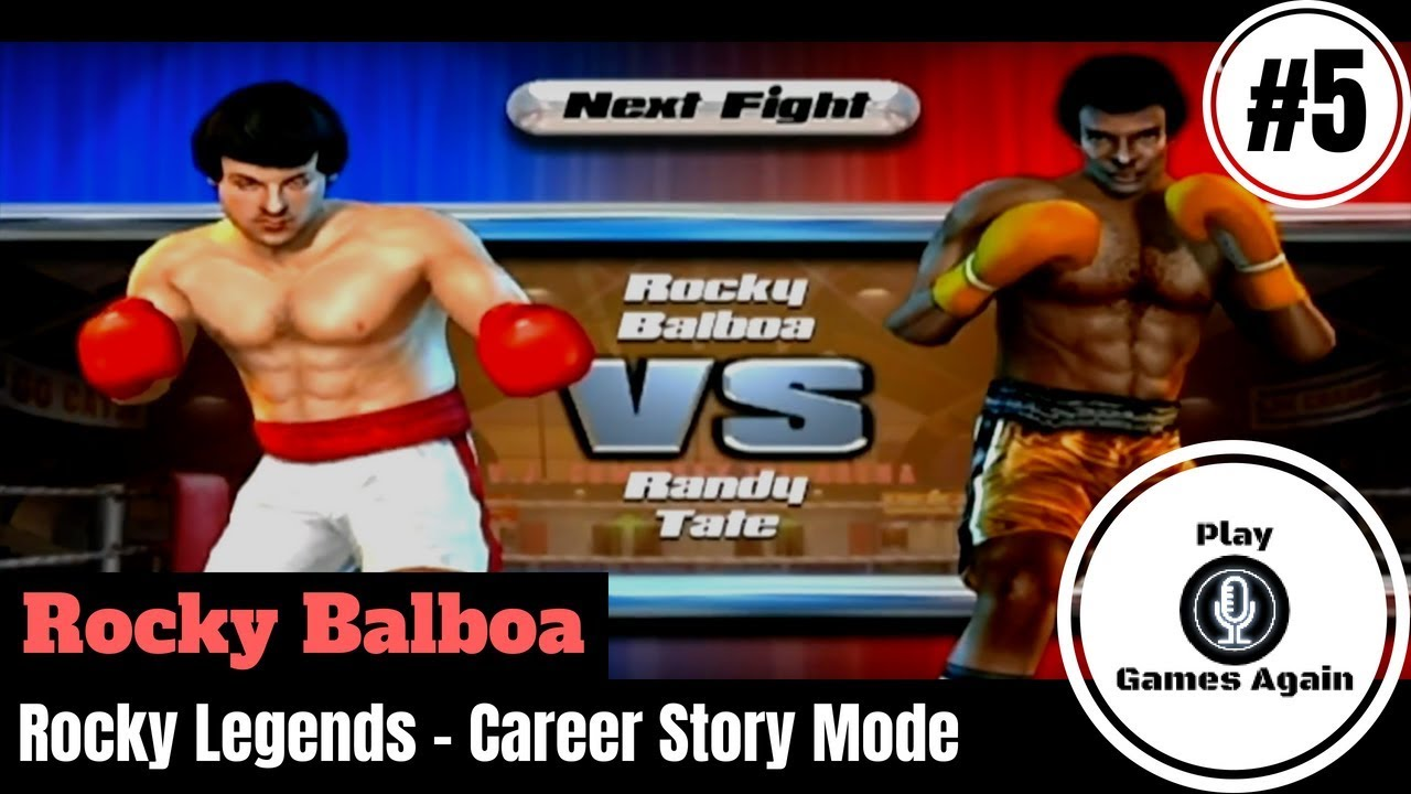 ROCKY BALBOA | FIGHT 5 VS RANDY TATE | ROCKY LEGENDS - YouTube