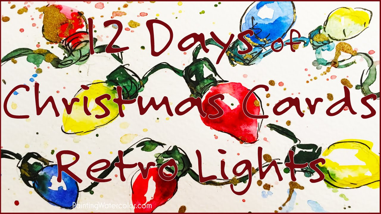 Christmas Card, Retro Lights - YouTube