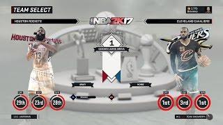 nba 2k17 houston rockets vs cleveland cavaliers nov 1 1080p60