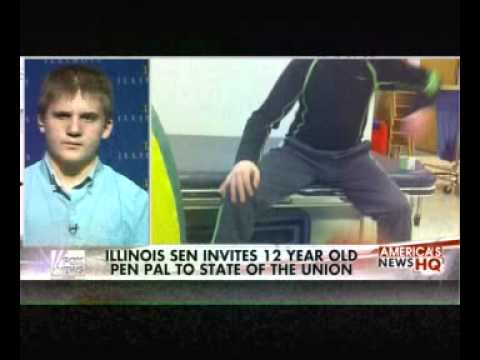 """Young stroke victim attends State of the Union"""""""