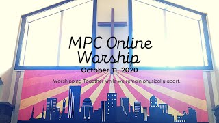 Online Worship for Sunday October 11, 2020