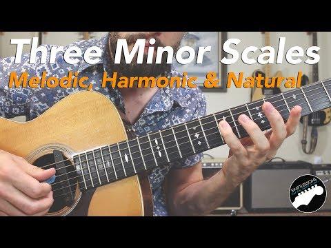 The Three Minor Scales - Melodic, Harmonic, & Natural Guitar Licks Lesson