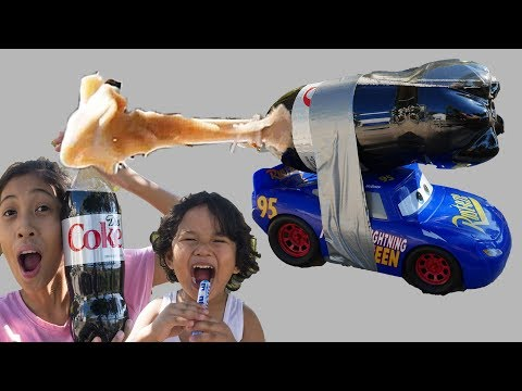 how to make a diet coke and mentos rocket car