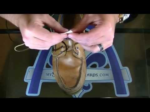 HOW TO : The EASIEST Way to Lace a Sperry (or any boat shoe) - No Hooks or Gadgets