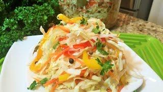 КАПУСТА МАРИНОВАННАЯ быстрая, хрустящая, очень вкусная. (Cabbage Marinated )