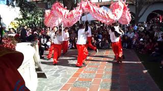 Lion Dance by J C  Culture Foundation | Target Free First Sunday at Bowers Museum