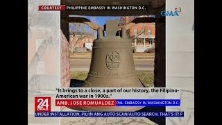 Balangiga bells na kinuha ng mga Amerikano noong 1901, opisyal nang isasauli ng Amerika