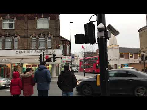 Southall Town Hall And Southall Broadway London UK