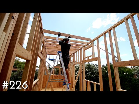 The Tiny House Roof Joists Are Complete Youtube