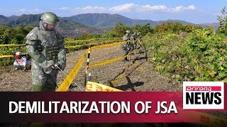 Minesweeping at JSA complete; more measures to be done to achieve demilitarization of JSA