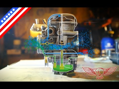 How does CV carburetor work animation DIY adjustment screw - ep26 - Roma Custom Bike