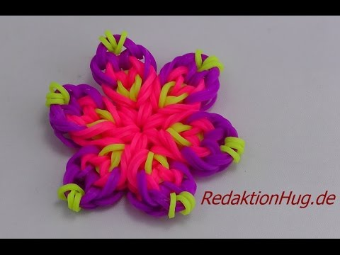 Loom Bands Mini Blume deutsch - YouTube