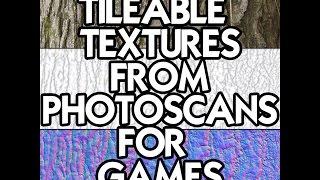 Wie erstellen Befliesbarer Texturen aus Photoscans für Spiele Tutorial