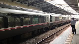 【ろまんすかー】小田急線30000形EXEα ロマンスカー 特急さがみ&3000形@本厚木駅