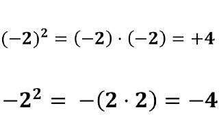 minus 2 i anden kan give to forskellige resultater