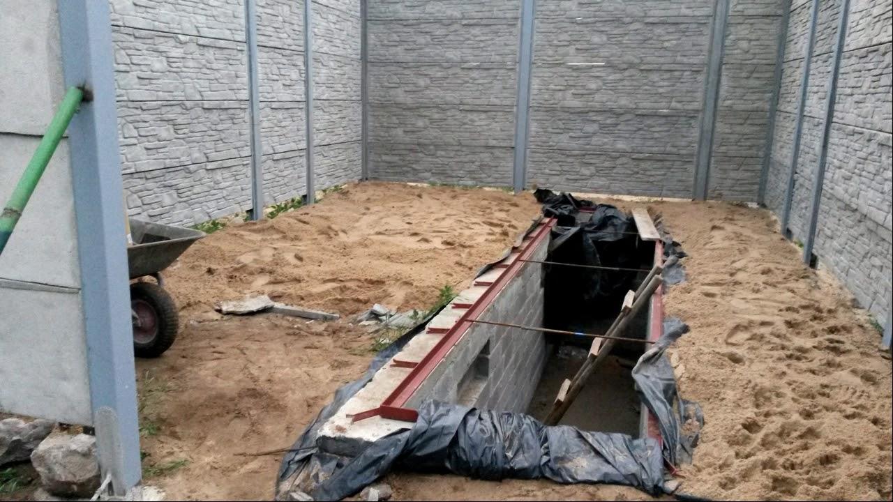Garaż Z Płyt Betonowych Youtube