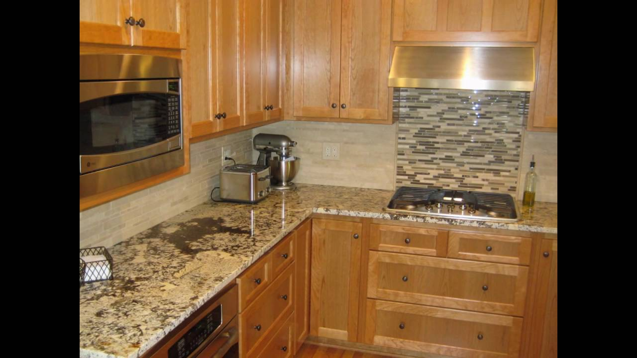backsplash ideas for black granite countertops - YouTube on Countertops Backsplash Ideas  id=16206
