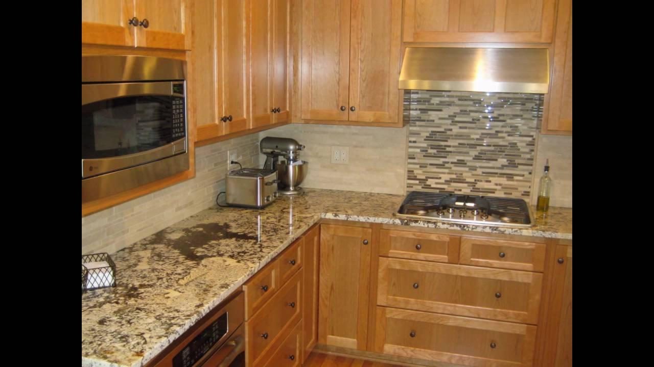 backsplash ideas for black granite countertops - YouTube
